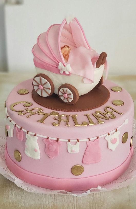 Escoge de forma adecuada la torta para tu baby shower