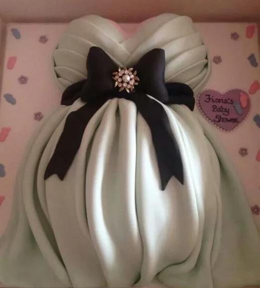 Modernos diseños de pasteles de niña para baby shower