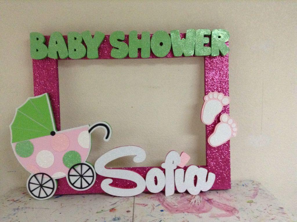 El marco de selfie llegó a la decoración de baby shower descúbrelo